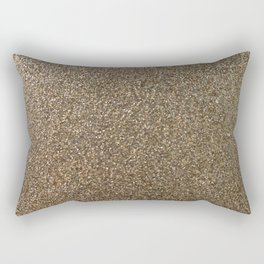 gold glitter photo Rectangular Pillow