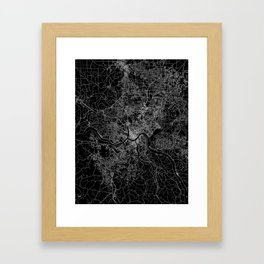 Cincinnati map Framed Art Print
