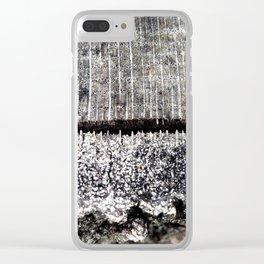 Macro Tree Stump Bark Texture Clear iPhone Case