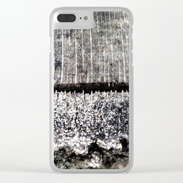 Macro Tree Stump Bark Texture Clear iPhone Case
