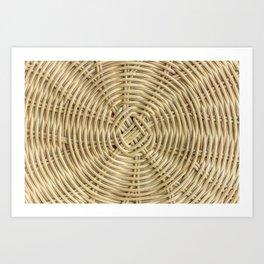 Rattan wickerwork texture Art Print