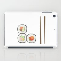 sushi iPad Cases featuring sushi. by tiny little plum