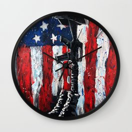 Battlefield Cross War Memorial Wall Clock
