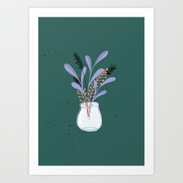 Whimsical Nature Bouquet Art Print