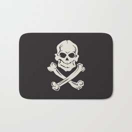 Jolly Roger pirate flag Bath Mat