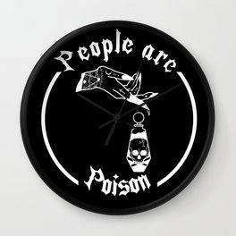 POISON PEOPLE Wall Clock