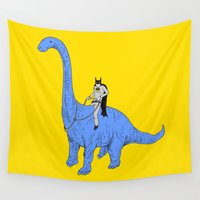 dinosaur Wall Tapestries featuring Dinosaur B by Isaboa