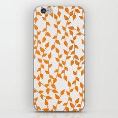 Orange plant pattern iPhone & iPod Skin
