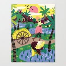 Ricefields Cambodia Canvas Print