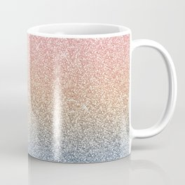 Girly Blush Rose Gold Blue Ombre Glitter Sparkles Coffee Mug