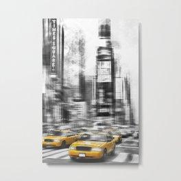 Modern Art TIMES SQUARE Metal Print
