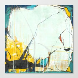 October - Square Abstarct Expressionism Canvas Print