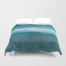 blue window Duvet Cover