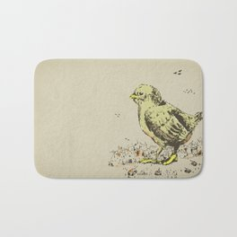 feel the earth tremble (or monster chick) Bath Mat