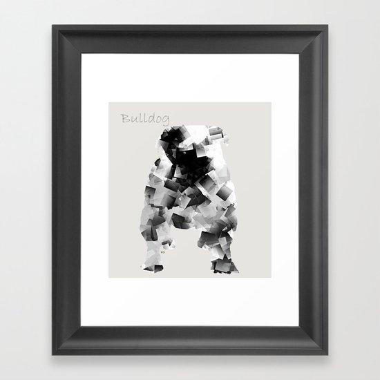 the bulldog  Framed Art Print