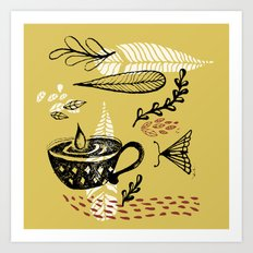 the cup and the moth Art Print