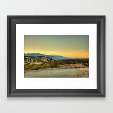 Saturday's Sunet Framed Art Print
