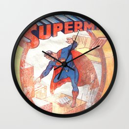Superman Poster Wall Clock