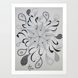 Drops and Star Art Print