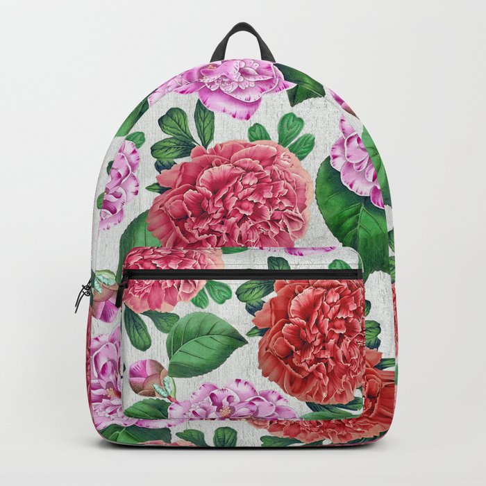 Camellia and Peonia pattern Backpack