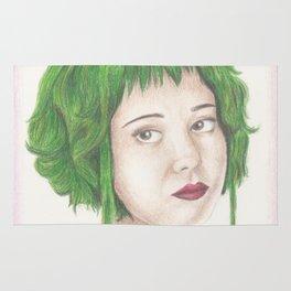 Green Haired Ramona Rug