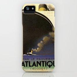 Vintage poster - L'Atlantique iPhone Case