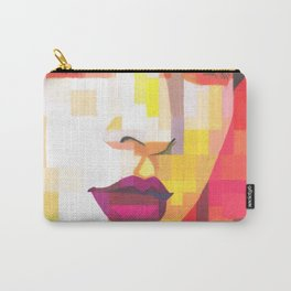 Red Portrait of Woman Carry-All Pouch