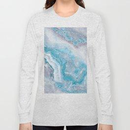 Ocean Foam Mermaid Marble Long Sleeve T-shirt