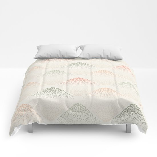 Retro Dotted Pattern 05 Comforters