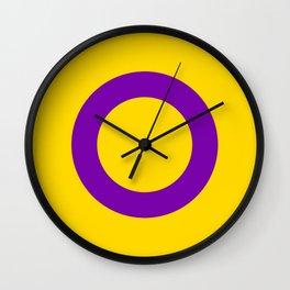 Intersex Flag v2 Wall Clock