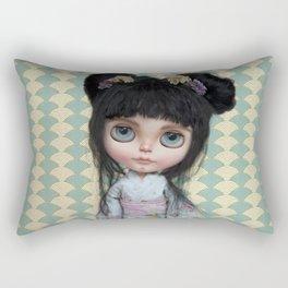 Japanese Doll by Erregiro Rectangular Pillow
