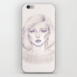 Debbie Harry from Andy Warhol famous picture iPhone Skin