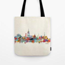 Lansing Michigan skyline Tote Bag