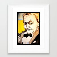 fitzgerald Framed Art Prints featuring Barry Fitzgerald by Jessica Tobin