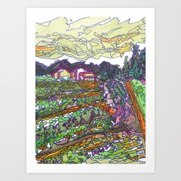 New Dawn Farm 2015 Landscape Art Print