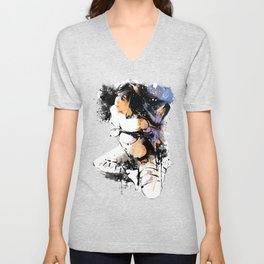 Shibari - Japanese BDSM Art Painting #7 Unisex V-Neck