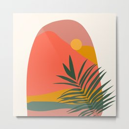 Tropical Landscape Metal Print