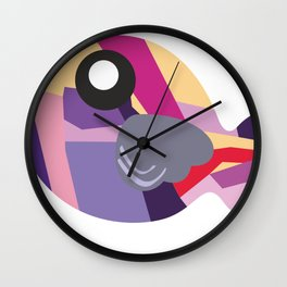 Fish - purplish Wall Clock