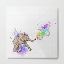 Rainbow Baby Bubble Fun 2! Metal Print
