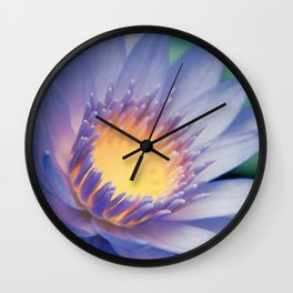 He makana nau Ke Aloha - Nymphaea stellata  - Star Lotus Wall Clock