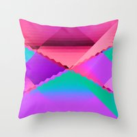 computer Throw Pillows featuring Computer Dreams by Blank & Vøid