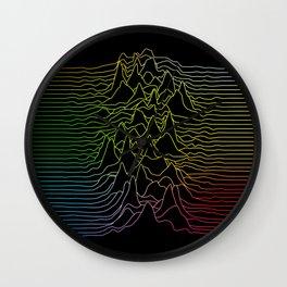 rainbow illustration - sound wave graphic Wall Clock