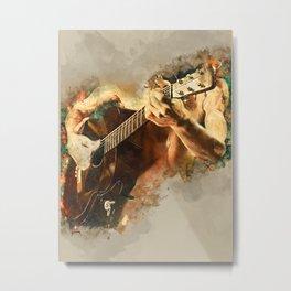John Frusciante acoustic guitar Metal Print