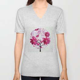 Tree of love Unisex V-Neck