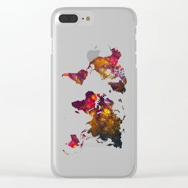 World Map mountain Clear iPhone Case