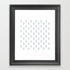 Polka Paisley Framed Art Print