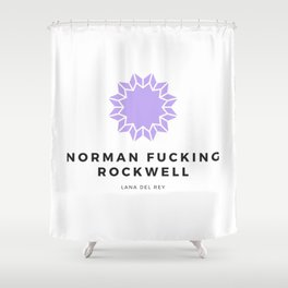 norman fucking rockwell Shower Curtain