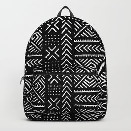 Line Mud Cloth // Black Backpack