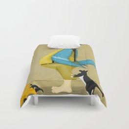 Blue Chickadee Comforters
