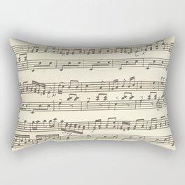 Lovely music note print Rectangular Pillow